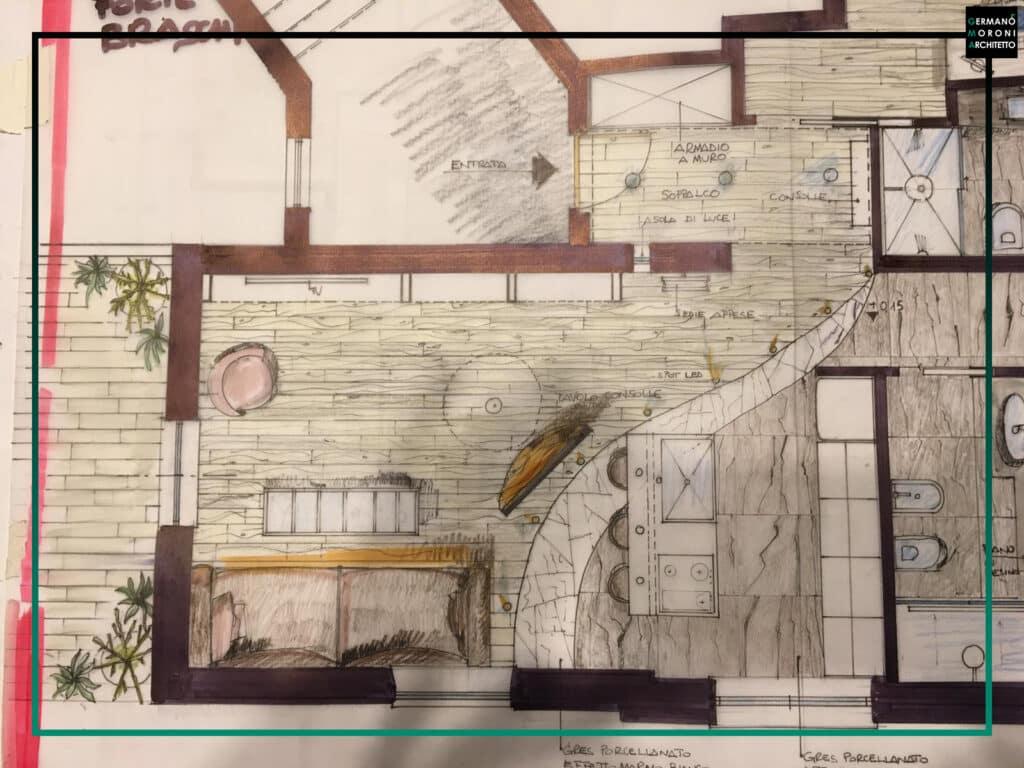 Ristrutturazione appartamento zona Forte Braschi a Roma | Germanomoroniarchitetto